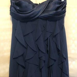 Xscape - Joanna Chen formal dress size 4 dark blue